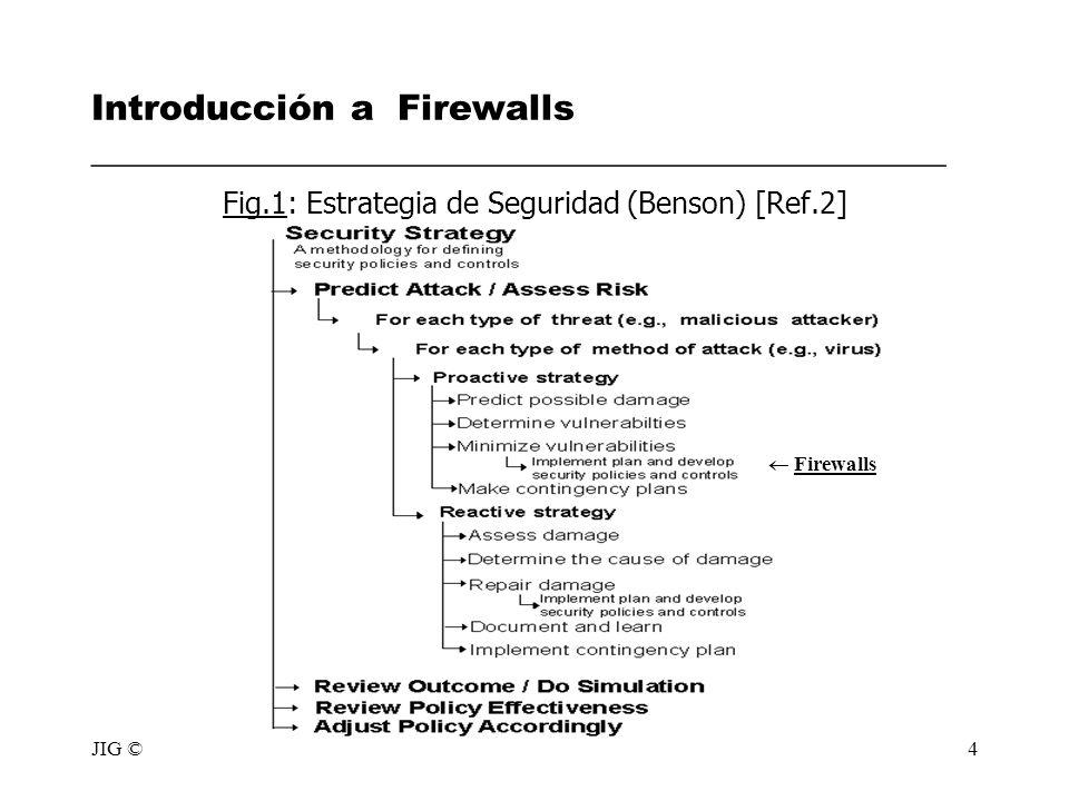 Fig.1: Estrategia de Seguridad (Benson) [Ref.2]
